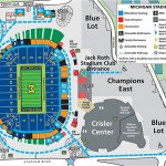 Michigan Stadium Facility Map