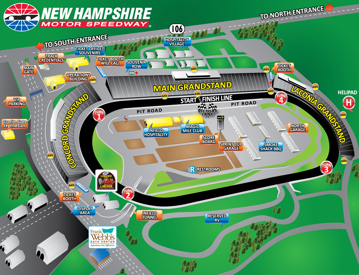 New Hampshire Motor Sdway Facility Map