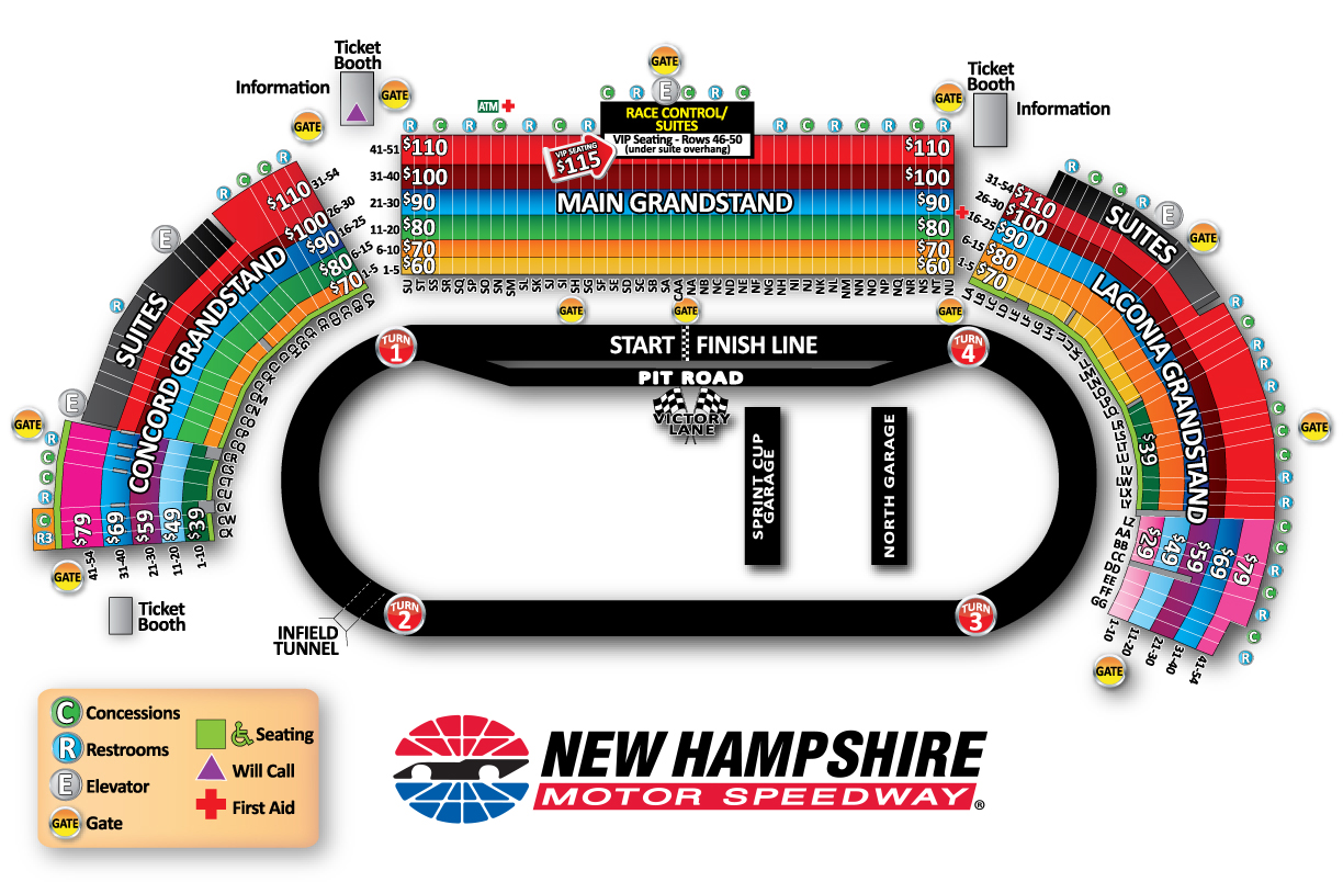 New Hampshire Motor Sdway Seating Chart