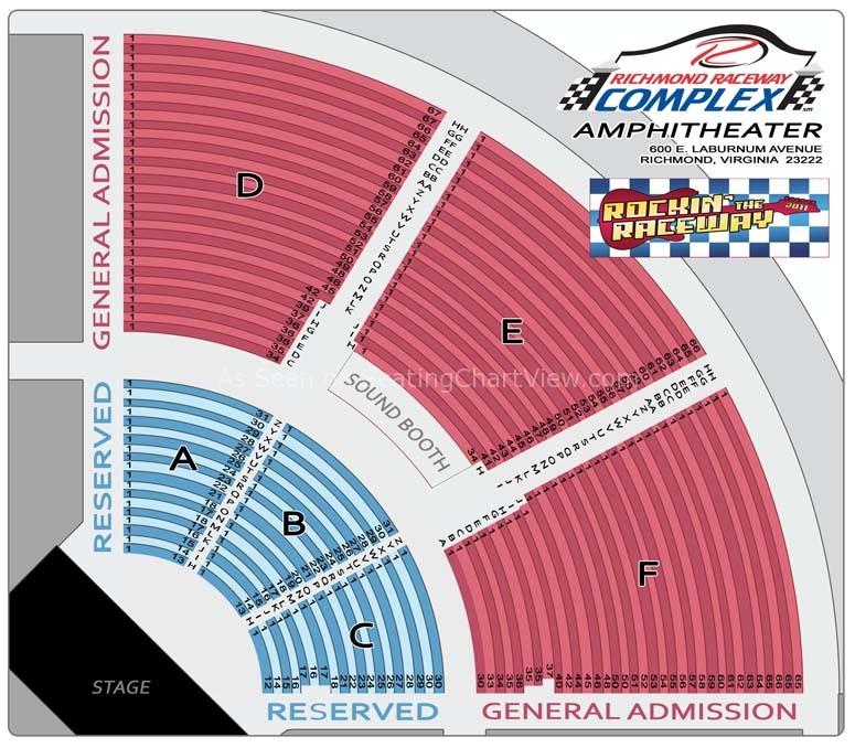 Clic Amphiotheatre At Richmond International Raceway Amphitheater Seating Chart