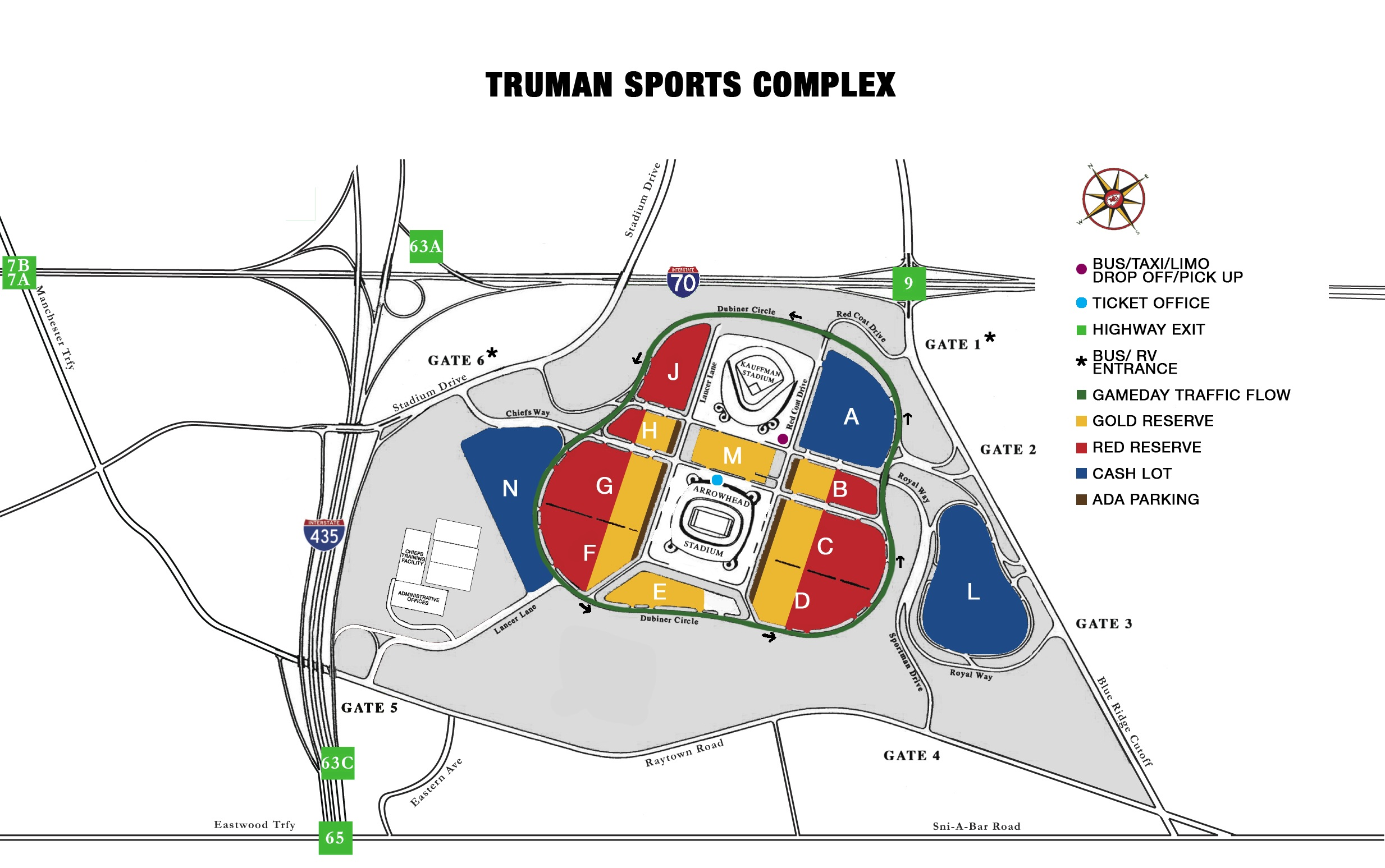 Kauffman Stadium Parking Map Kauffman Stadium, Kansas City MO | Seating Chart View