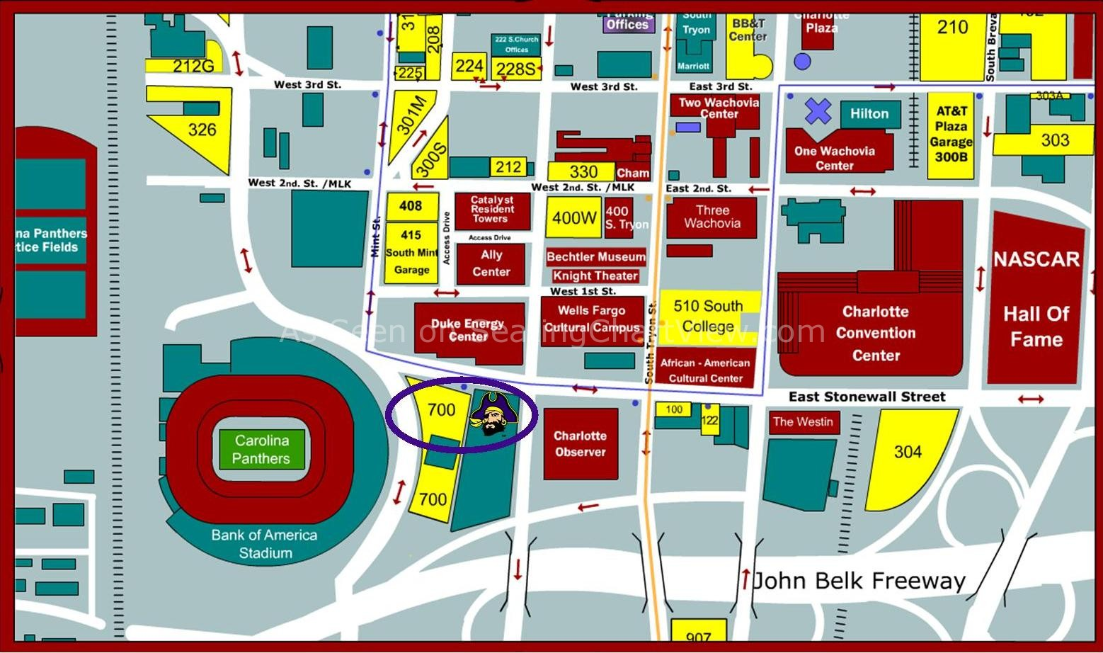 Bank Of America Stadium Map Bank of America Stadium, Charlotte NC | Seating Chart View Bank Of America Stadium Map