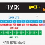 Circuit of the Americas Main Grandstand Seating Map