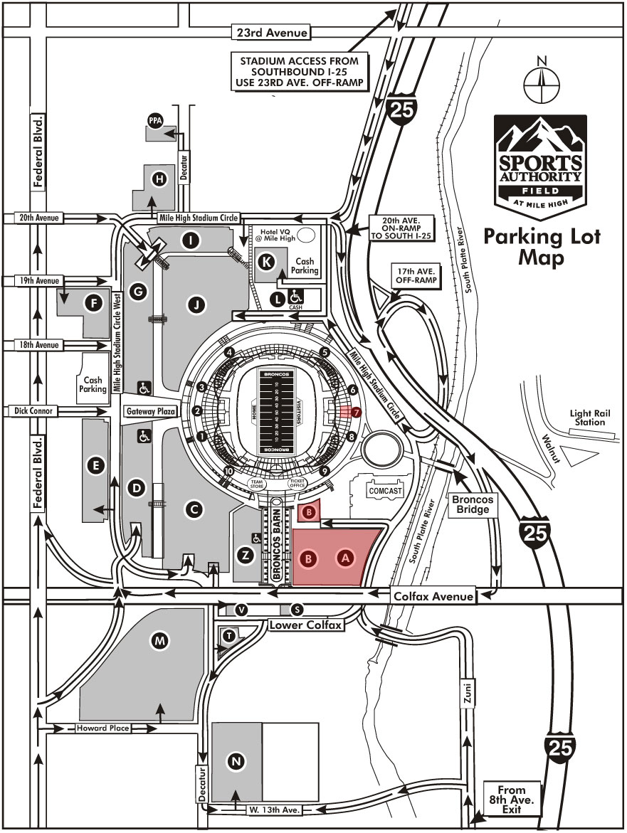 Sports-Authority-Field-at-Mile-High-Parking-Map Denver Broncos Parking Lot Map on denver pepsi center concert seating chart, downtown denver parking map, invesco field map, denver restaurant map, bars downtown denver map, denver vicinity map, denver broncos public transportation, cdot state highway map, denver bus system map, denver broncos field map, coors field map, denver broncos overhead view, denver weather map, sports authority field map, denver colorado climate data, university of alabama parking map, denver colorado suburbs, denver co on state map, downtown denver street map,