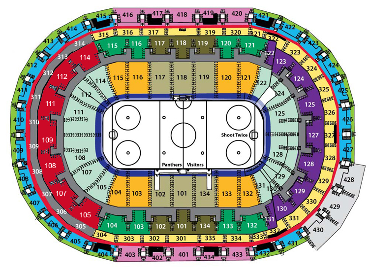 Bbt Center Sunrise Fl Seating Chart View