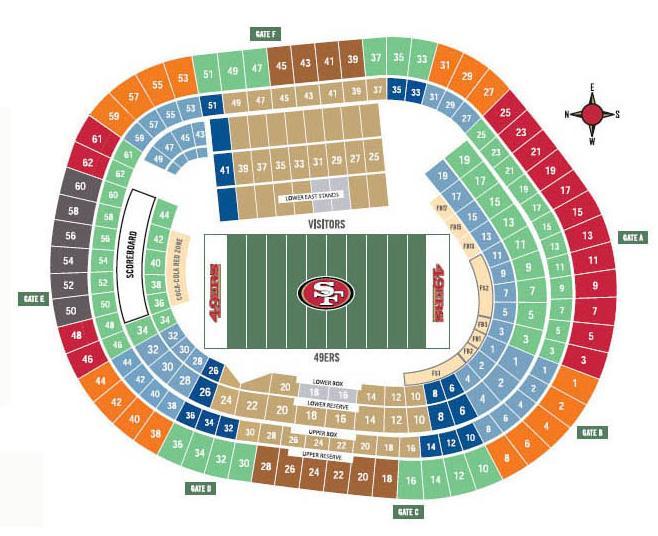 Levis Stadium Capacity >> Candlestick Park, San Francisco CA | Seating Chart View