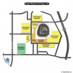 Angel Stadium of Anaheim Parking Map