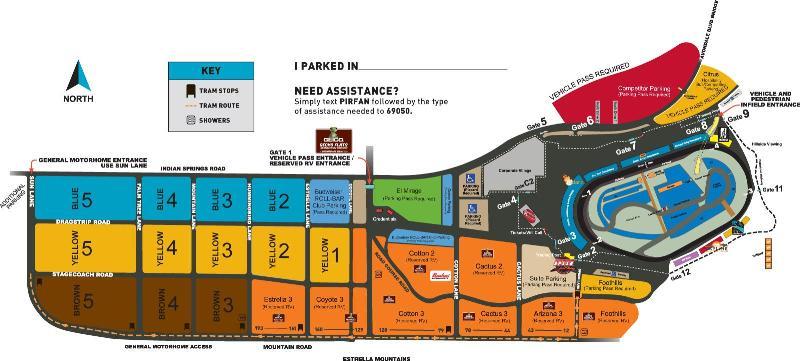 Phoenix Raceway Map ISM Raceway, Avondale AZ | Seating Chart View