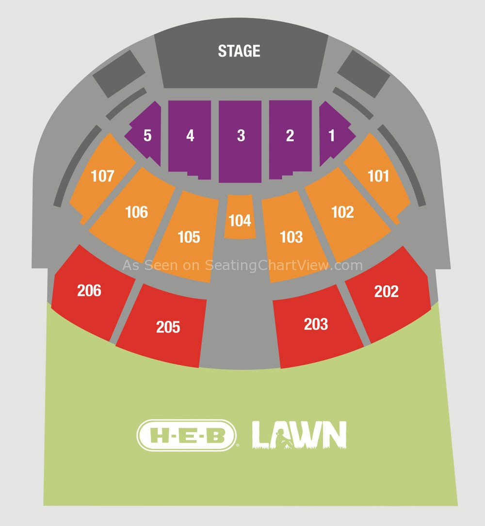 Austin360 Amphitheater Austin Tx Seating Chart View