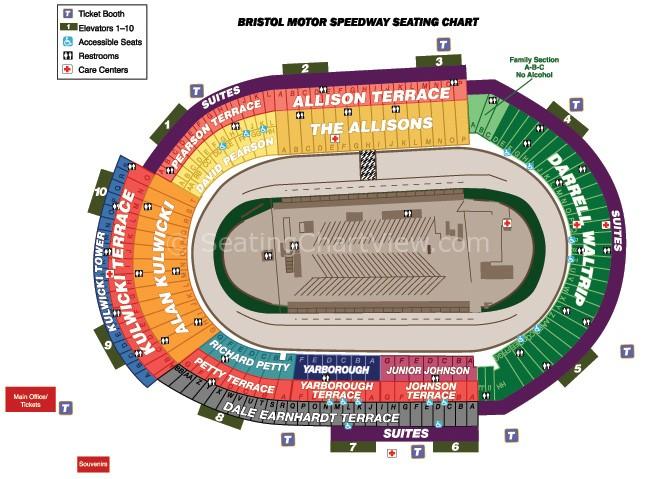 Bristol motor speedway bristol tn seating chart view