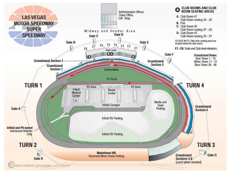 Las vegas motor speedway las vegas nv seating chart view for Las vegas motor speedway events