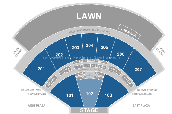 Sunlight Supply Amphitheater Seating Chart