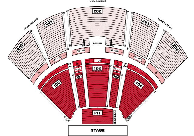 Bb Amp T Pavilion Camden Nj Seating Chart View