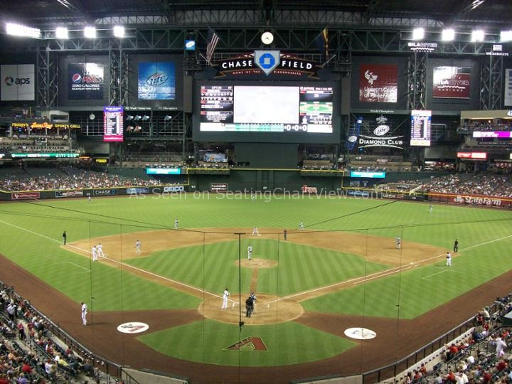 Chase Field Phoenix Az Seating Chart View