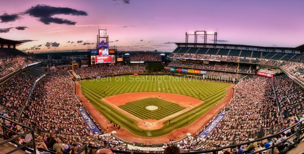 Coors field denver co seating chart view for Baseball stadium mural wallpaper