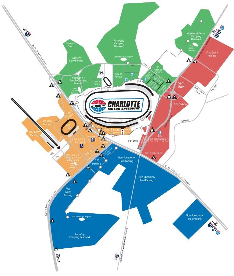 charlotte motor speedway concord nc seating chart view