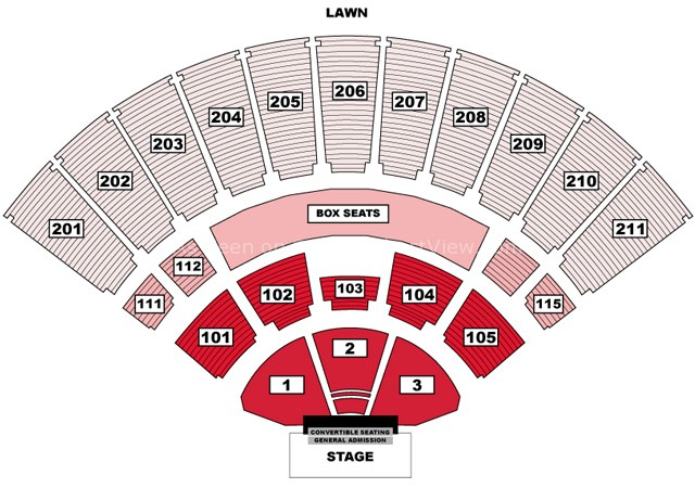 toyota amphitheatre wheatland ca seating chart view