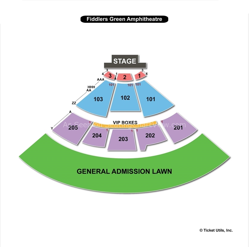 Fiddler s green amphitheatre englewood co seating chart view