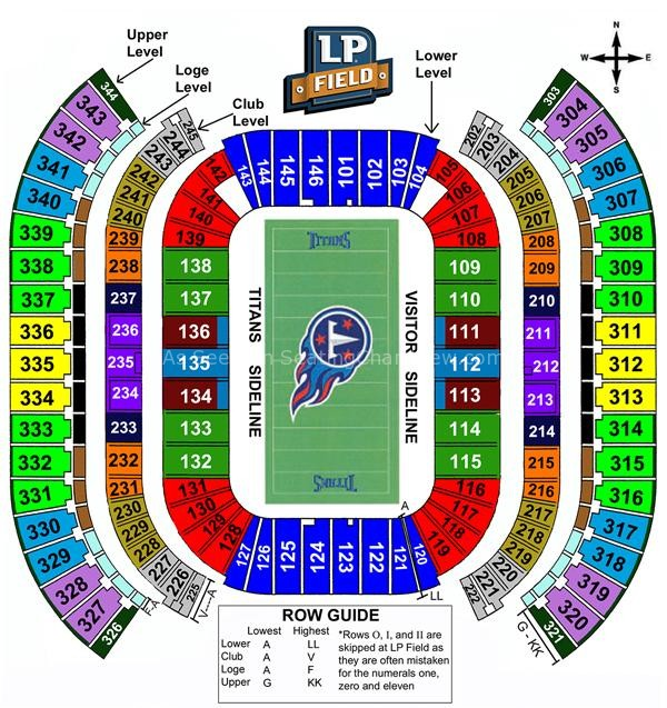 Nissan Stadium Nashville Tn Seating Chart View