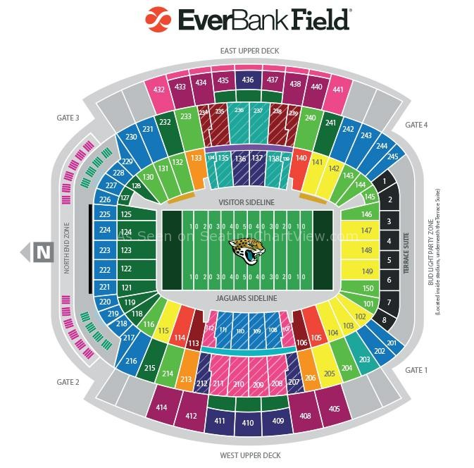 Everbank field seating chart two birds home