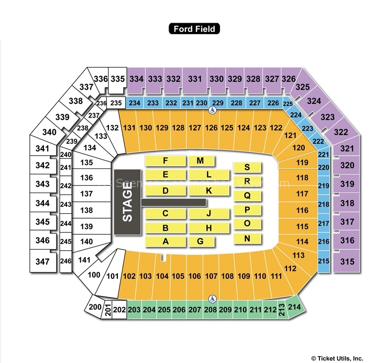 Ford Field General End Stage Seating Chart
