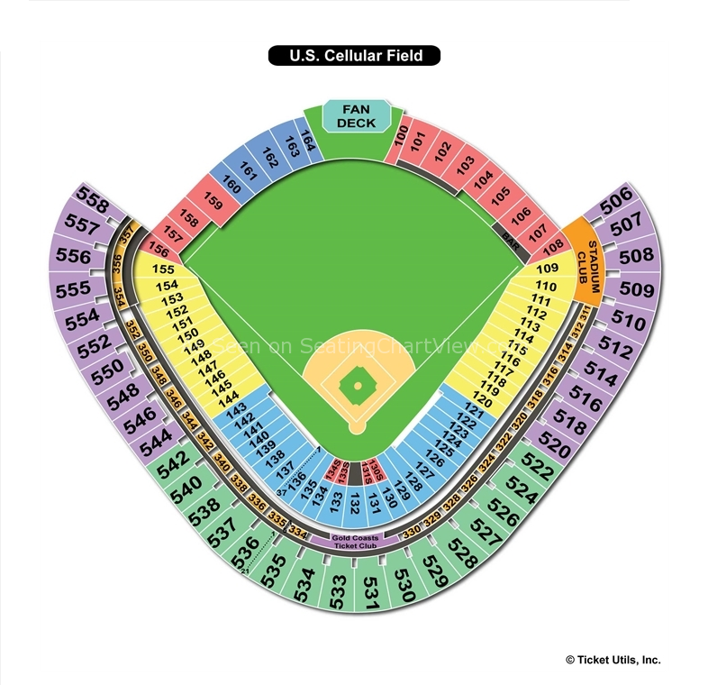 Guaranteed Rate Field Chicago IL Seating Chart View - Us cellular field seating map