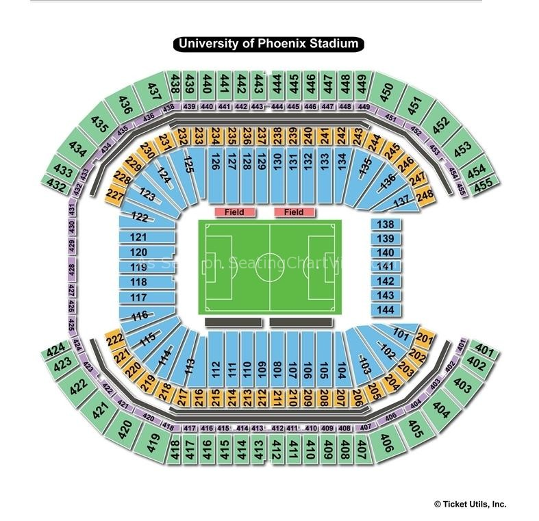 University of phoenix stadium glendale az seating chart view