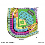 Wrigley Field Typical Concert Seating Chart