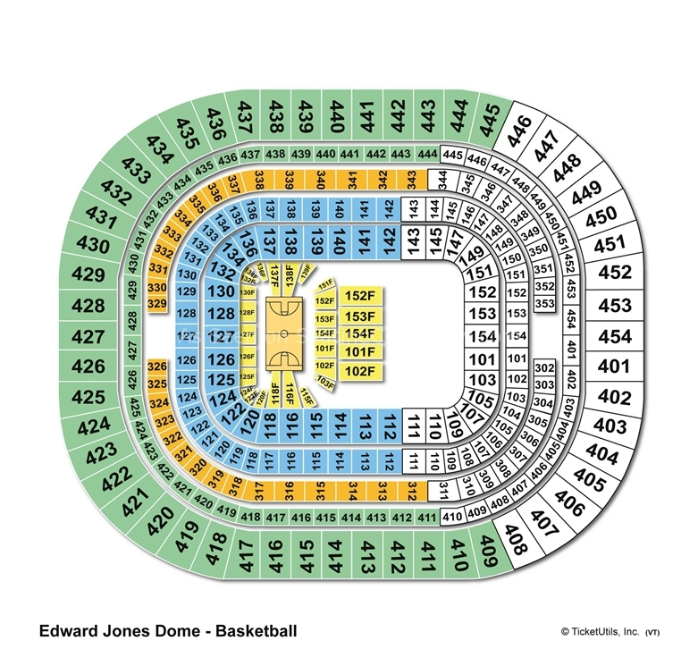 The Dome At Americas Center St Louis Mo Seating Chart View