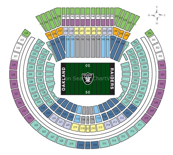 Ringcentral Coliseum Oakland Ca Seating Chart View