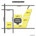Honda Center Parking Map