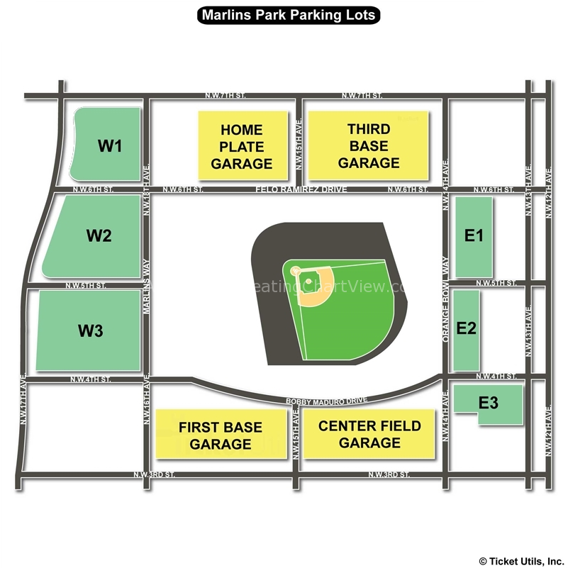 Marlins Park Miami Fl Seating Chart View