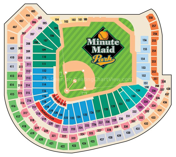Minute maid park houston tx seating chart view