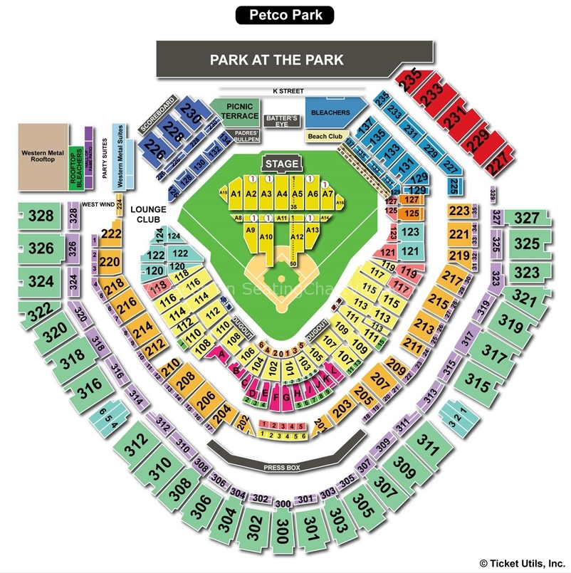 Petco Park Concert Seating Chart