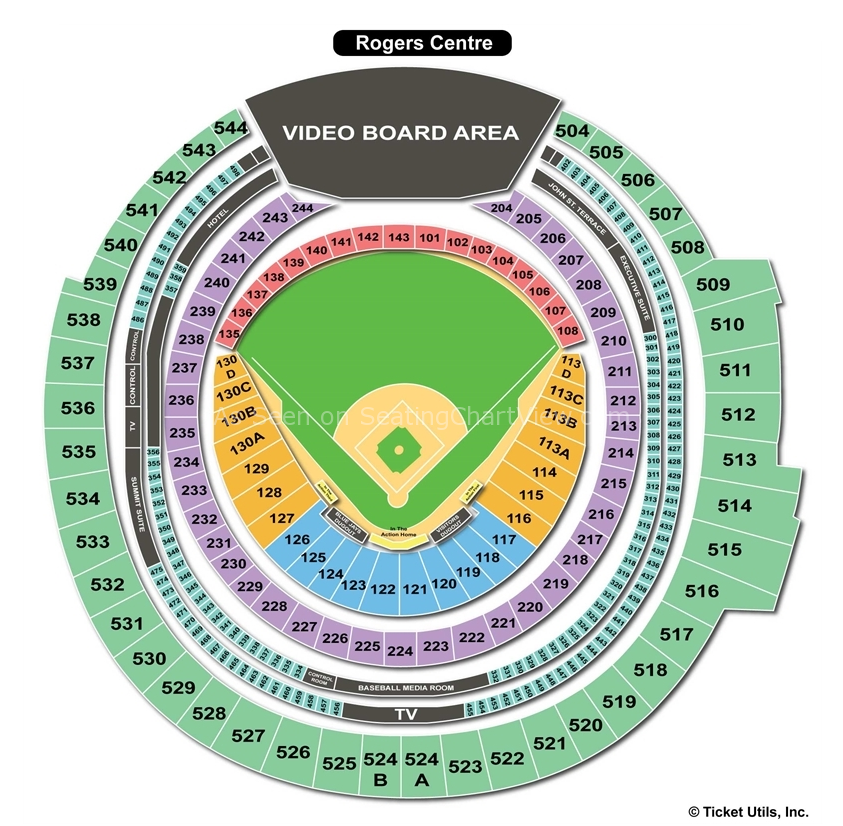Rogers Center Seating Chart 30 Stadiums 30 Days Rogers
