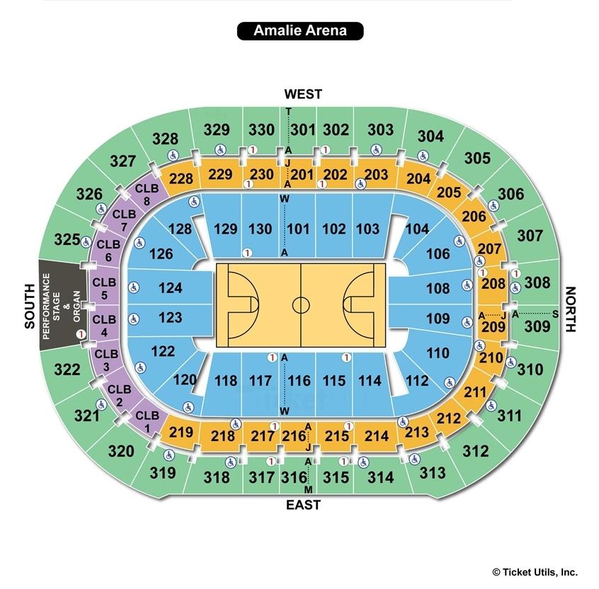 Amalie Arena Basketball Seating Chart