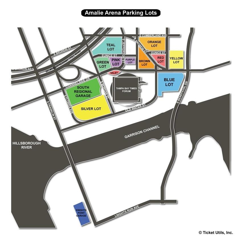 Amalie Arena Parking Map