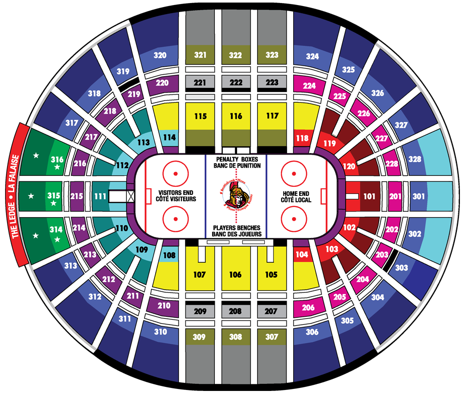 Canadian Tire Centre Hockey Seating Chart