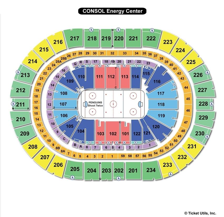 Consol Energy Center Hockey Seating Chart