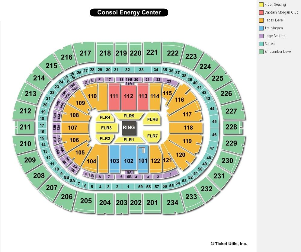 Consol Energy Center WWE Seating Chart