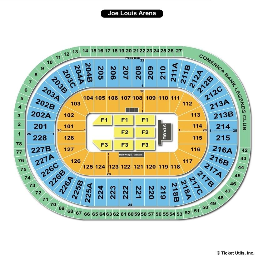 Joe Louis Arena End Stage Concert Seating Chart