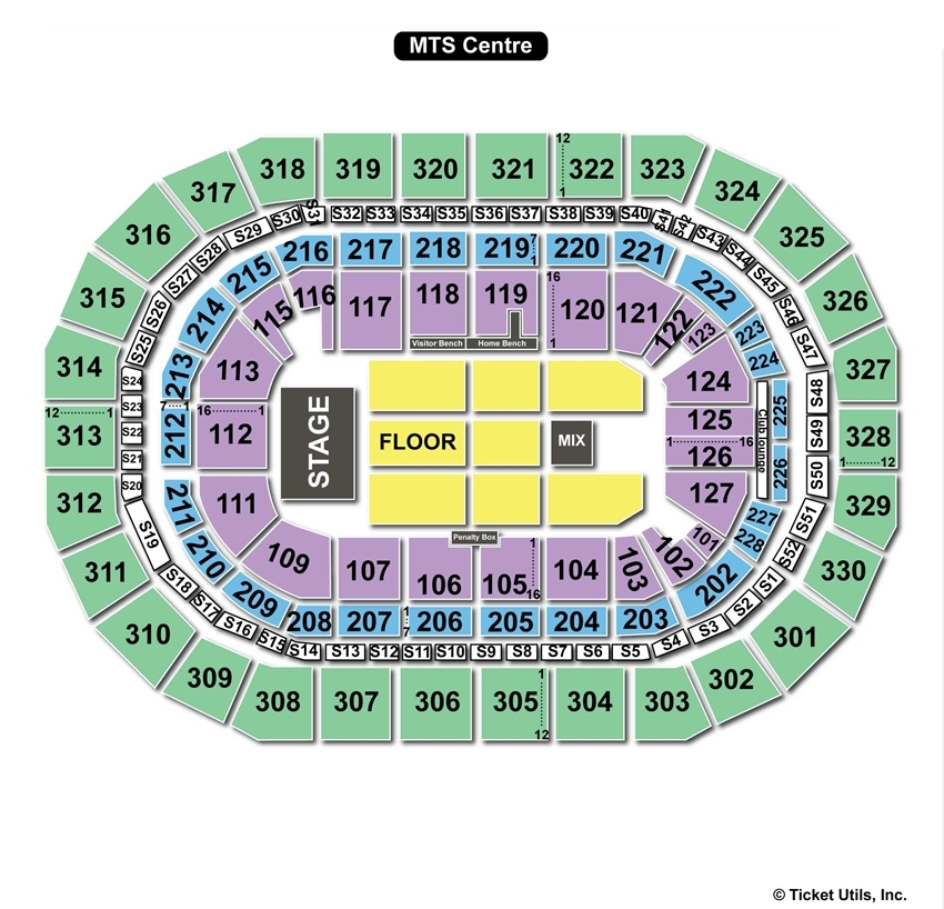 MTS Centre End Stage Seating Chart