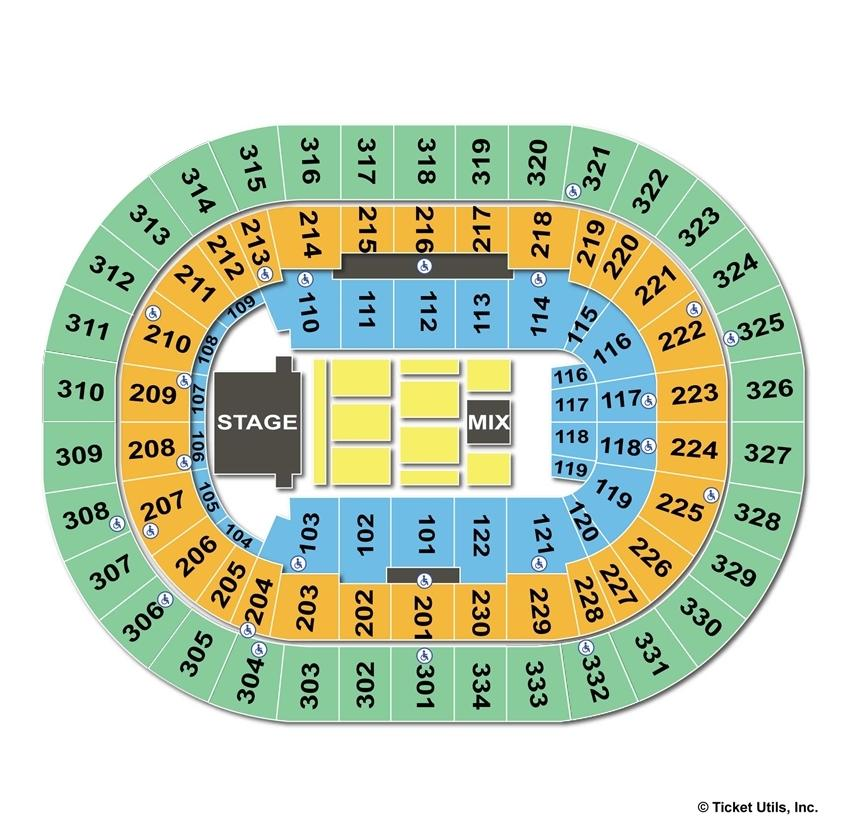 Moda Center End Stage Concert Seating Chart