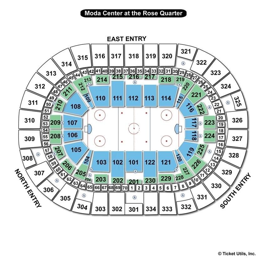 Moda Center Hockey Seating Chart
