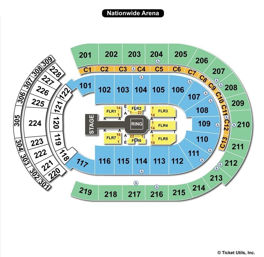 Nationwide Arena WWE Seating Chart
