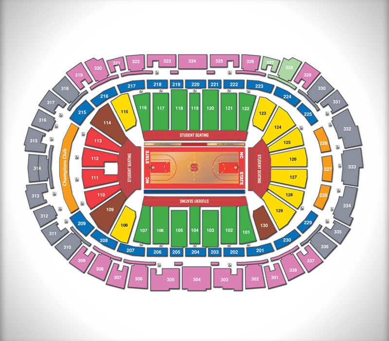 PNC Arena Basketball Seating Chart