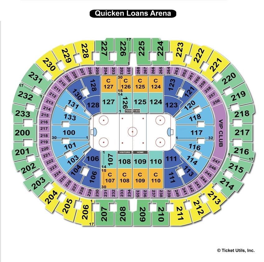 Quicken Loans Arena Hockey Seating Chart