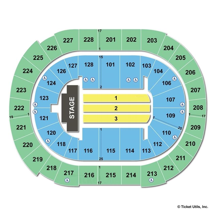 SAP Center End Stage Concert Seating Chart
