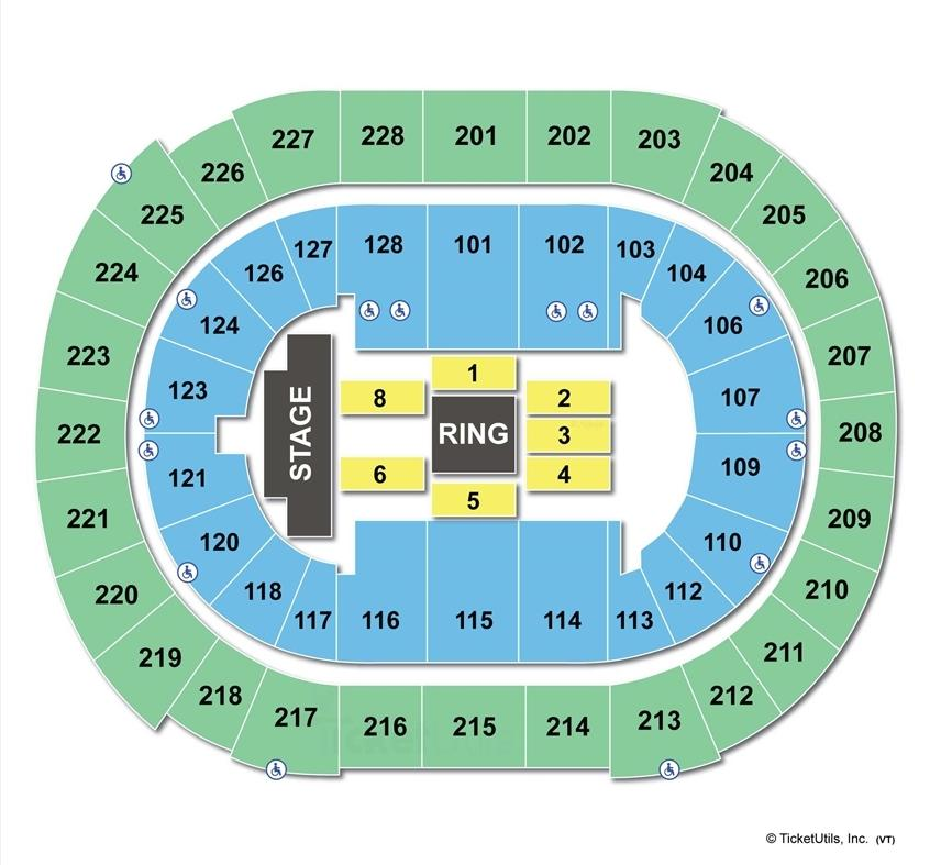 Sap Center WWE Seating Chart