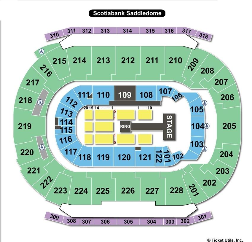 Scotiabank Saddledome WWE Seating Chart